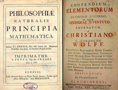 Principia de Isaac Newton en Latin